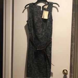 Michael Kors belted tweed dress